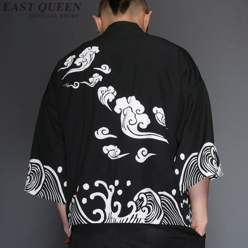 Haori yukata men Japanese kimono cardigan men samurai costume male mens kimono shirt jacket Japanese yukata haori AE008