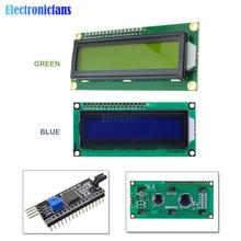 LCD1602 PCF8574T PCF8574 IIC/I2C/Interface 16x2 caractères Module daffichage LCD 1602 5V bleu/jaune vert écran pour Arduino bricolage