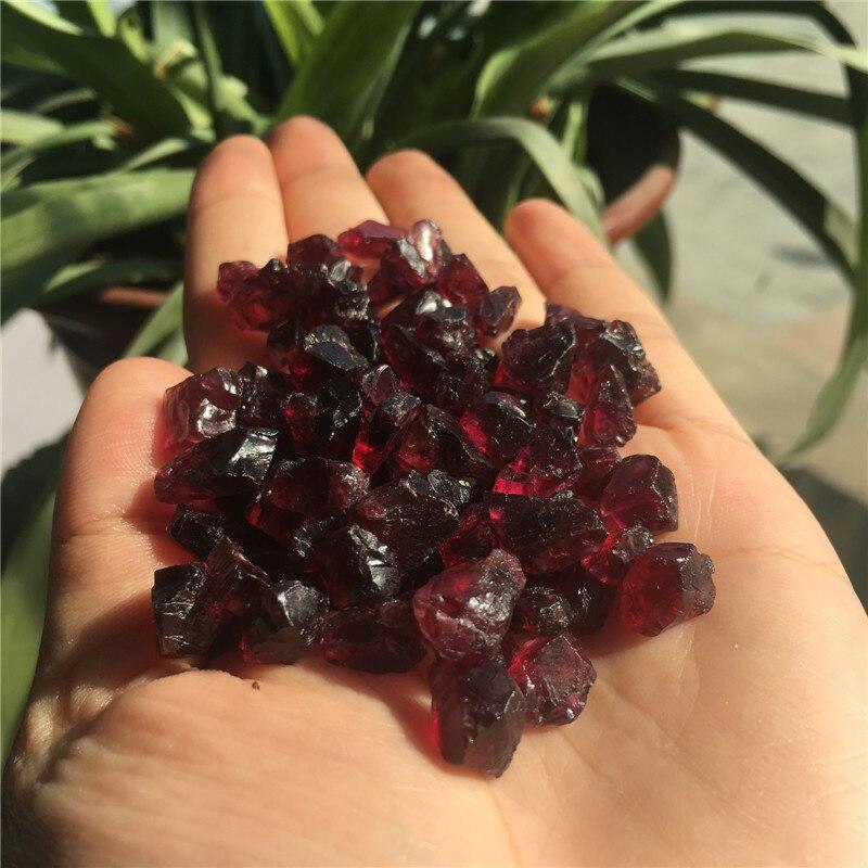 100 г Высокое качество 100% хороший грубый натуральный винный красный гранат целебные кристаллы необработанные драгоценные камни для DIY изгот...