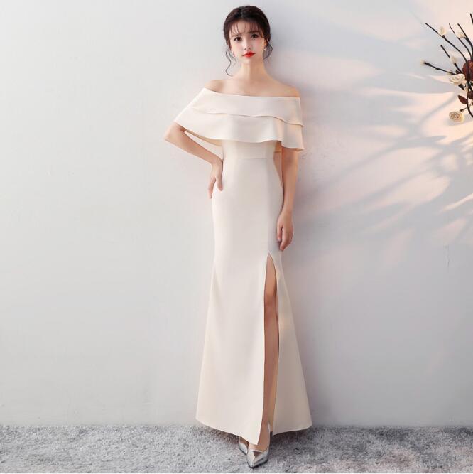 Mermaid dress ruffles evening Dresses long for women ceremony dress 2019 graduation Formal dress gown Vestido De Noiva