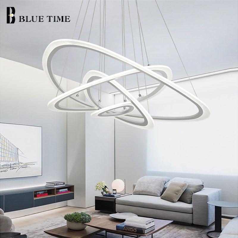 الأبيض الحديثة LED الثريا لغرفة المعيشة غرفة نوم غرفة الطعام غرفة مكتب بريق Led أضواء الثريا مصابيح معلقة