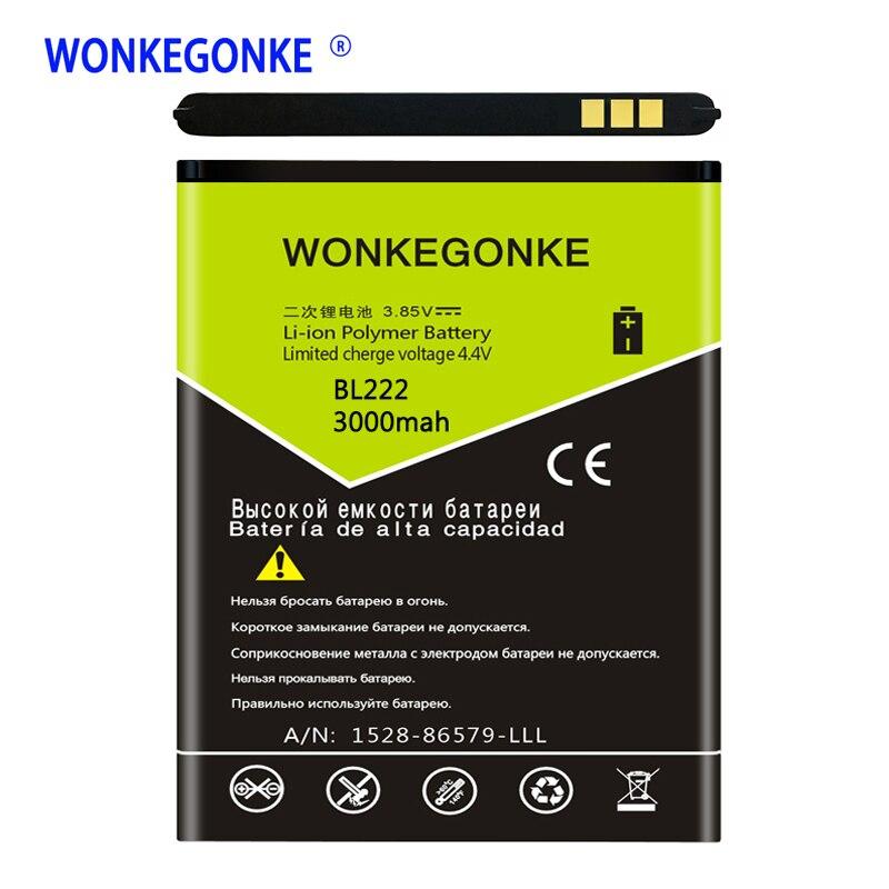 Wonkegonke bl222 para lenovo s660 s668t s 660 668 t baterias bateria