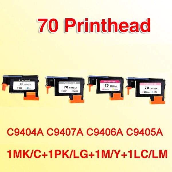 4x ل 70 رأس الطباعة ديزاين Z2100 Z5200 Z3100 Z3200 متوافق ل hp 70 فوتوسمارت برو B9180 C9404A C9407A C9406A C9405A