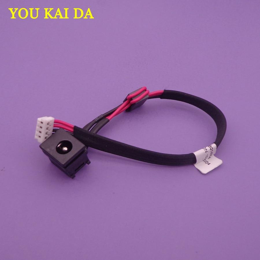 2 uds para Toshiba Satellite C650 C650D C655 C655D L650 L650D L655 L655D L500 L505 L505D L500D DC Jack con Cable de alimentación DC Jack