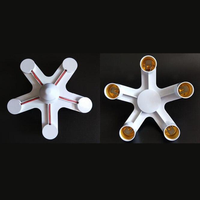 10 Uds 1 a 5 E27 convertidor adaptador soporte portalámparas E27 enchufe divisor para lámpara de iluminación LED adaptador bombilla