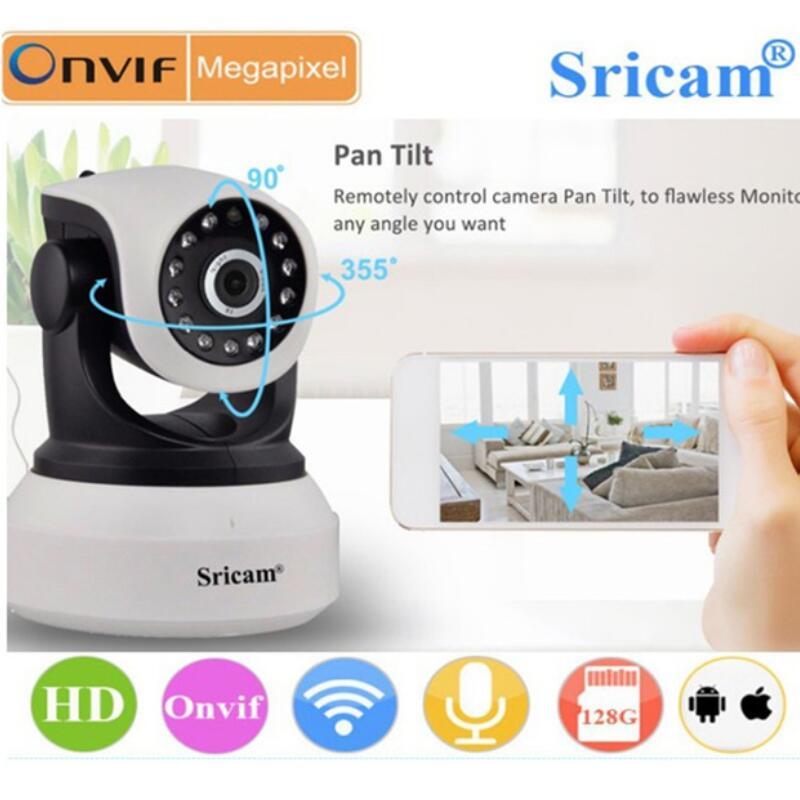 100% sricam sp017 sem fio 720 p ir-cut câmera de visão noturna p2p monitor do bebê áudio wi-fi cctv onvif câmera ip de segurança interna