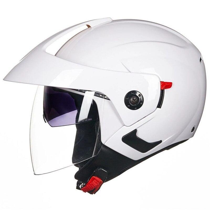 Cascos de moto para hombre, Casco de motocicleta de doble lente, Casco de motocicleta, Casco vespa, Casco de moto, Casco de moto blanco