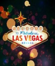 Las Vegas fête signe néon Bokeh fond vinyle tissu haute qualité ordinateur impression mariage photo toile de fond