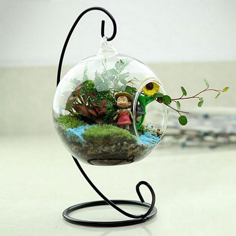 Подсвечник шар форма глобуса прозрачная висячая стеклянная ваза цветочные растения контейнер орнамент микро пейзаж DIY свадебный домашний декор