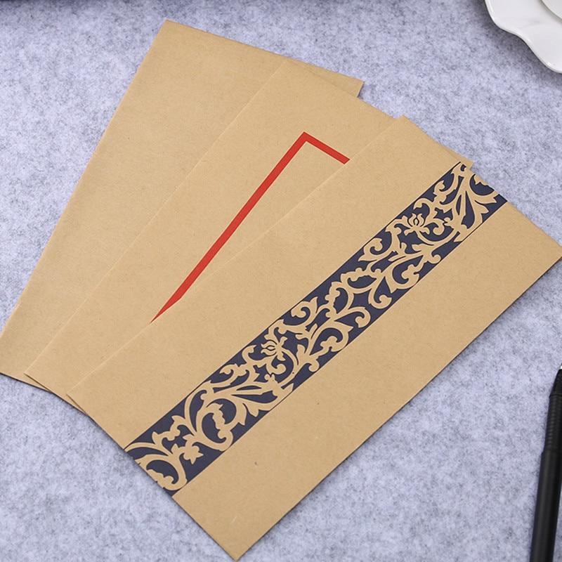 10 unids/set de papel de carta de felicitación creativo de Coloffice, papel de estilo Retro chino, laca de papel Kraft, almacenamiento de sobres, Escuela en blanco