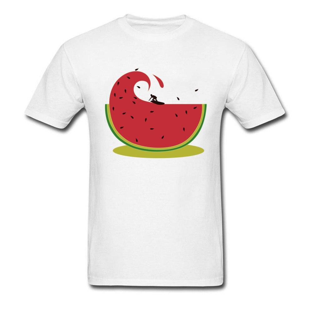 Sandía fruta ron en camisetas hombres melón Splash camiseta Primavera Verano fuera camiseta transpirable langosta ropa camisa