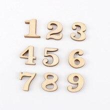 Artisanat en bois naturel mixte de 0 à 9 chiffres   Pour Scrapbooking, couture faite à la main, décoration de la maison, nombre en bois 11x15mm,