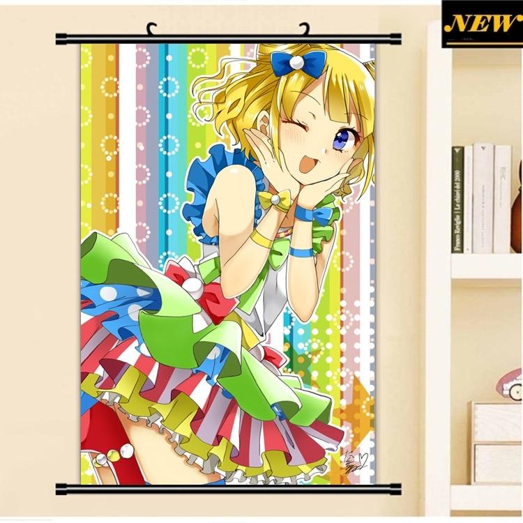 40X60 CM Minami Mirei PriPara prisma Paradise cameltoe loli dibujos animados anime pared paño mural desplazamiento cartel lienzo pintura