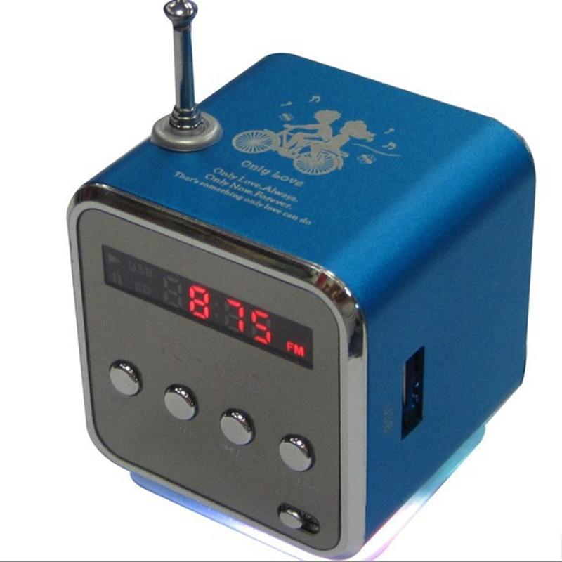 Radio FM numérique Micro carte SD/TF radio internet numérique Radio fm portable Mini haut-parleur en aluminium multifonction radio RADV26