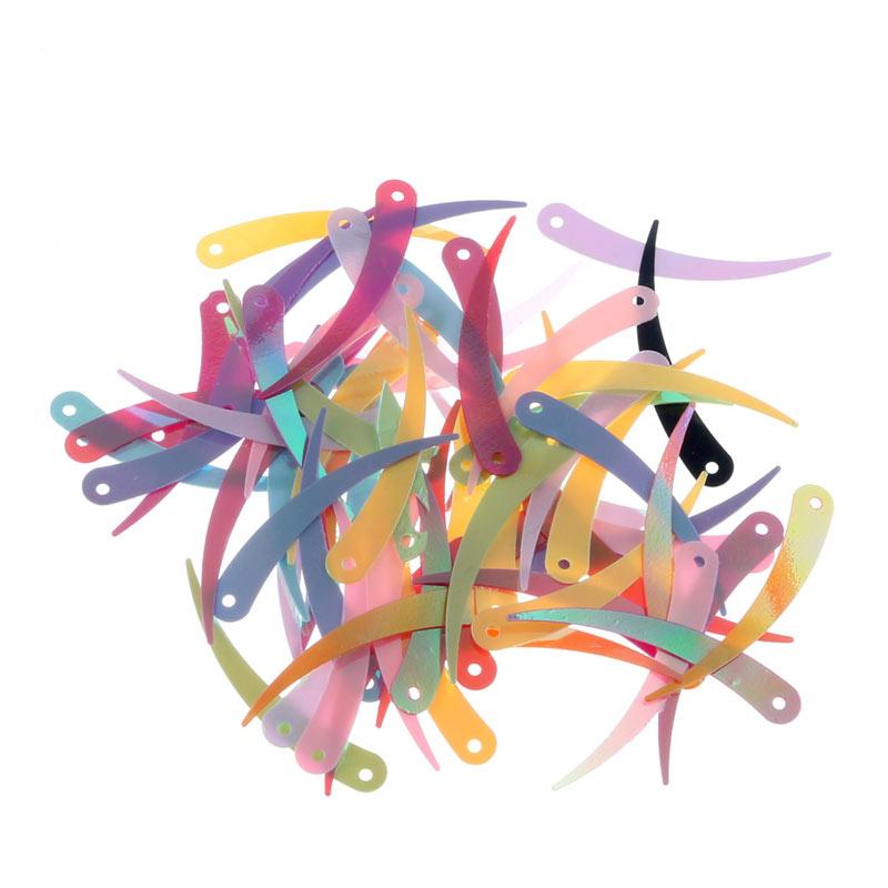 30g media luna perforada Lentejuelas/Lentejuelas sueltas costura artesanal de Lentejuelas para Decoración Ropa Accesorios de bordado