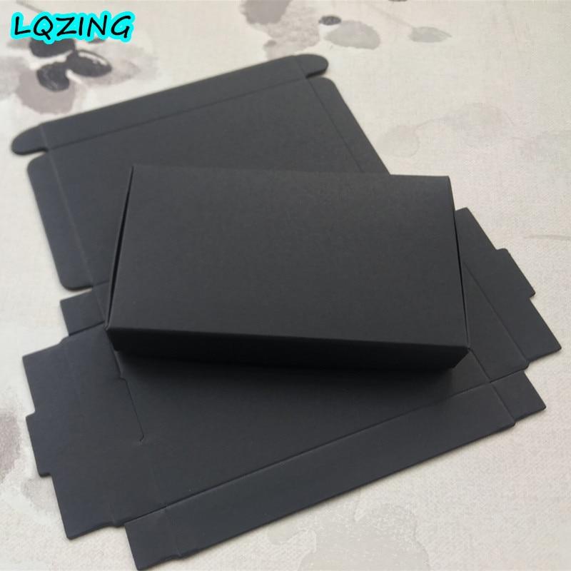Caja De embalaje De papel Kraft para regalo, caja De cartón negra...