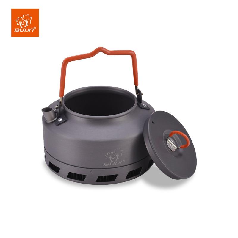 Чайник для кемпинга Bulin 1L, теплообменник, чайник для пикника из алюминиевого сплава
