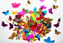 Confettis papillon 40mm 5g * 2 300 pièces   Confettis danniversaire pour fête de mariage, matériel de décoration de Table pour charges pinata