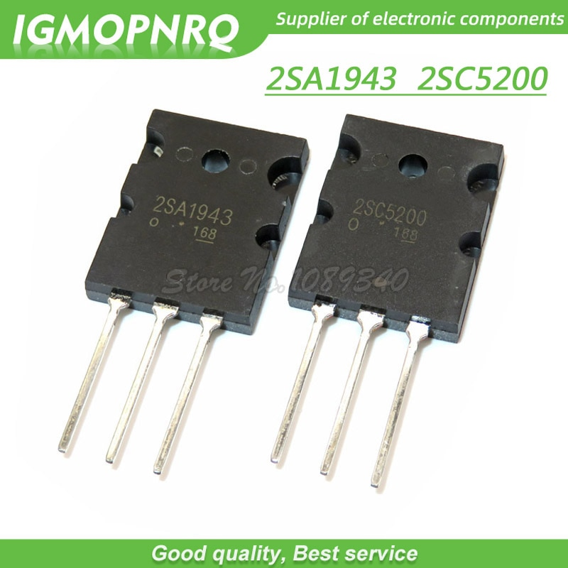 10 шт./лот 2SA1943 2SC5200, 5 шт., A1943 + 5 шт., C5200, пара, усилитель трубки, оригинал