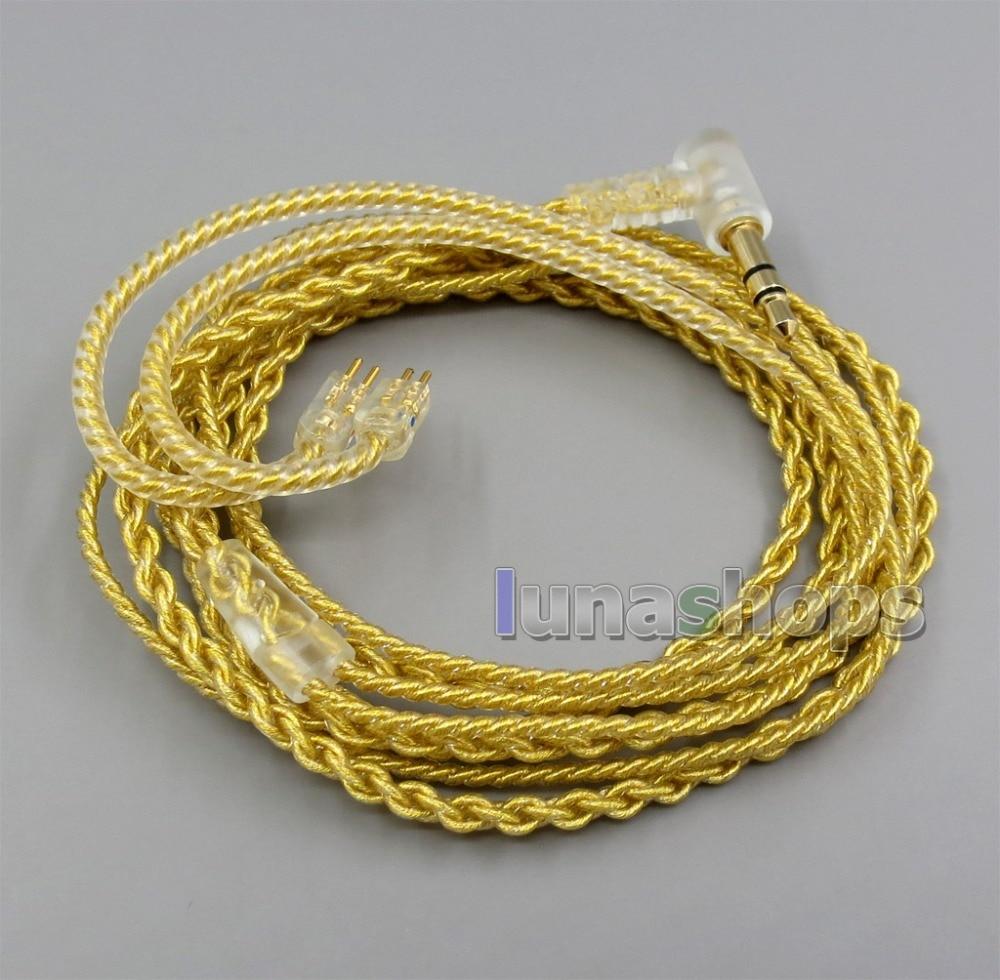 LN005956 Cable de auriculares chapado en oro OCC de PVC extremadamente suave...