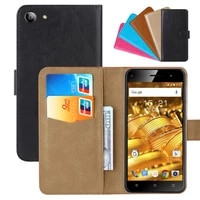 luxury wallet case for fly cirrus 4 fs507 pu leather retro flip cover magnetic fashion cases strap