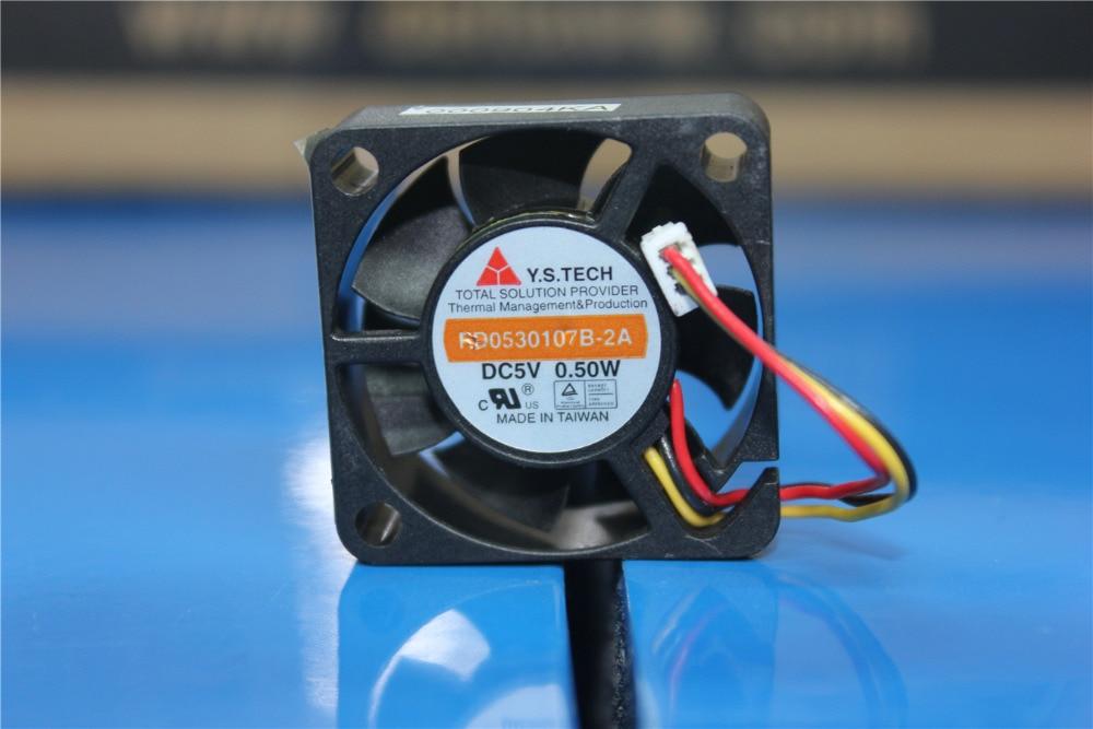 Original Y. S. TECH FD0530107B-2A DC5V 0,50 Watt 3 cm Set-top HDD Gehäuse Micro Fan