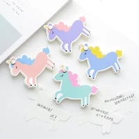 kawaii unicorn portable rotate memo pad sticky notes school office supply notepad student stationery 80 pages