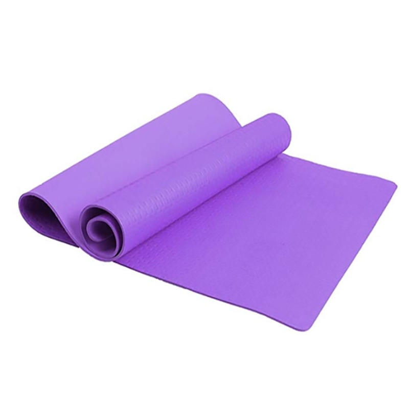 Colchoneta de Yoga de 183x61 CM x 4 MM, colchoneta de Yoga de espuma EVA para adelgazar, colchón para dormir a prueba de humedad, colchoneta para Pilates, ejercicio físico con correa de transporte