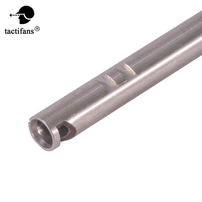Aço inoxidável diâmetro interno 6.01/6.03mm comprimento 230mm a 550mm barril interno paintabll airsoft rifle aeg caça acessórios