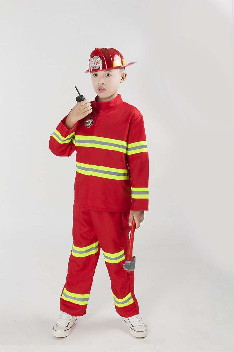 Free Shipping Fireman Sam Kids Halloween Cosplay Costume for Fancy Dress girl boy halloween party cosplay #7138