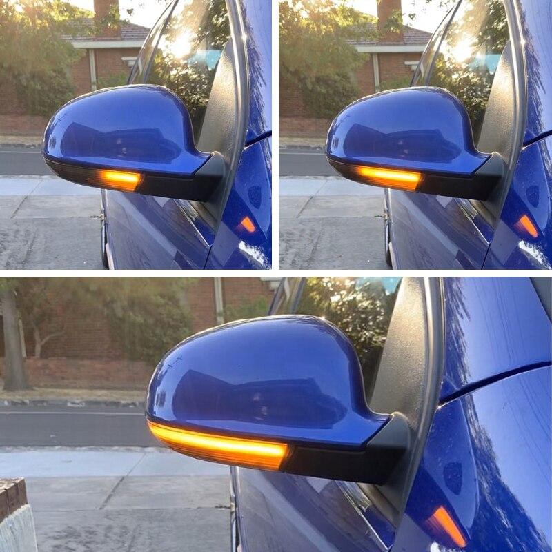 Luz led de intermitente de espejo lateral de flujo dinámico para VW Passat B5.5 B6 R36 R32 Jetta MK5 Golf 5 GTI Sharan superb
