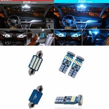 11pcs White Car Interior LED Light Bulb Kit For VW Golf 6 MK6 GTI 2010-2015 Front/Rear Dome Reading Lamp ice blue pink