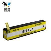 HAOCOLOR 1 yellow Ink Cartridges HP970 HP971XL 971XLBK for Officejet Pro X451dn X451dw X476dnMFP X476dwMFP X551dw X576dwMFP