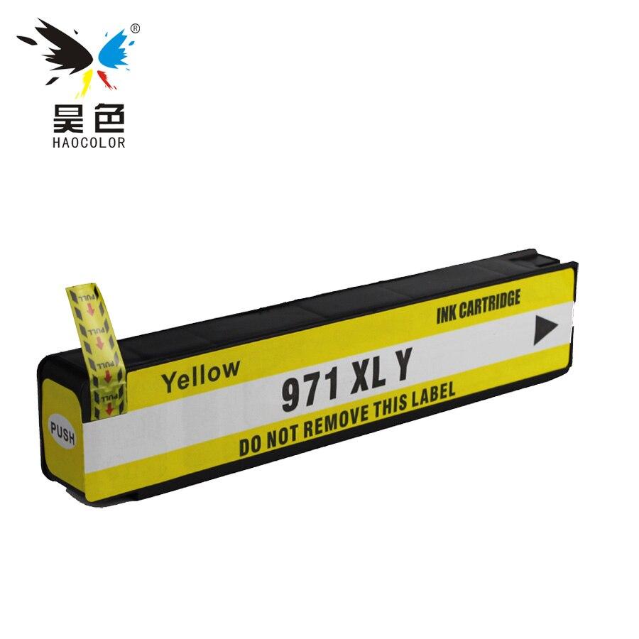 HAOCOLOR 1 Cartouches Dencre jaune HP970 HP971XL 971 XLBK pour Officejet Pro X451dn X451dw X476dnMFP X476dwMFP X551dw X576dwMFP