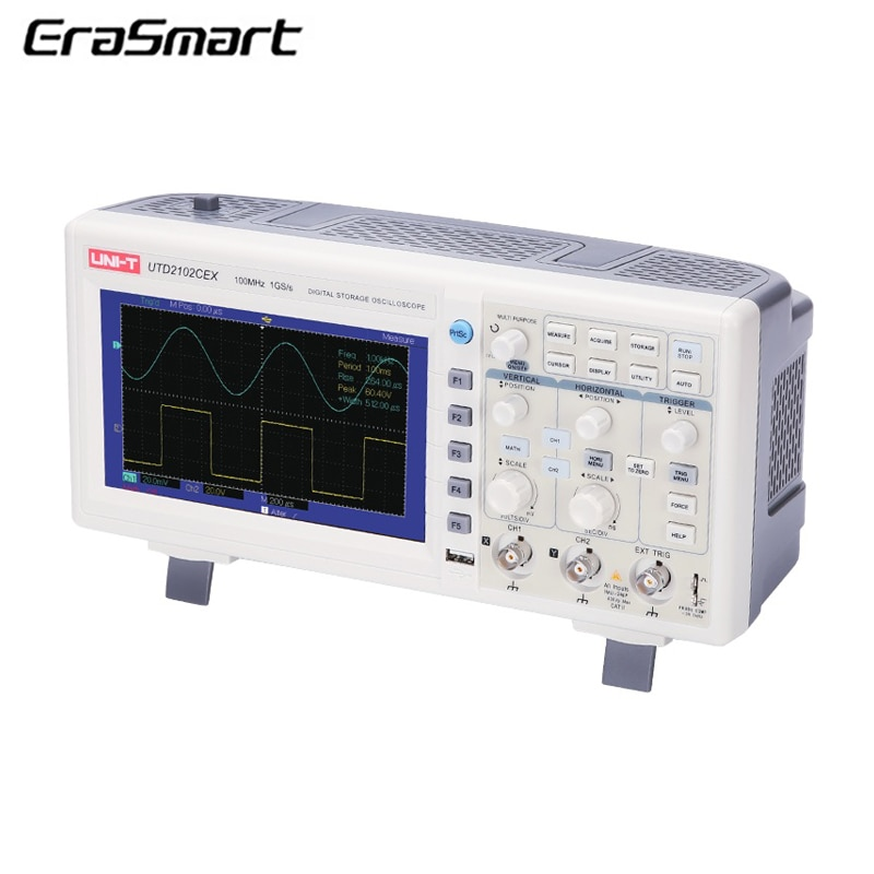 "UNI-T UTD2102CEX 100 MHZ Digital Speicher Oszilloskop 7 ""LCD 1GS/S 2 Kanäle"