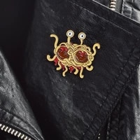fsm flying spaghetti monster anime decal brooches backpack pins badges hard enamel lapel pin hat bag jeans pins