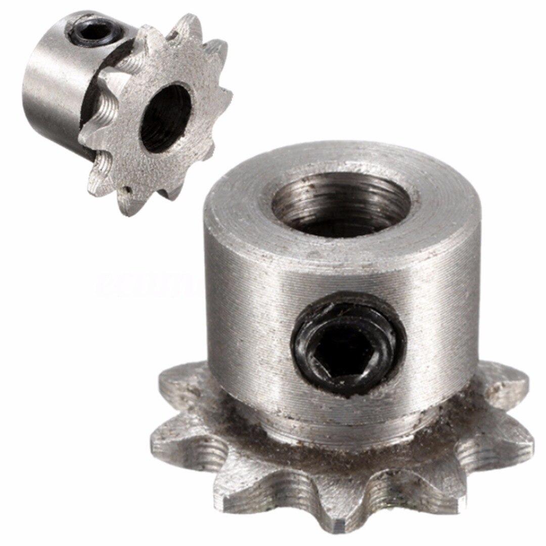 1 Uds., nuevo, engranaje de 8mm, 10 dientes, 10 T, engranaje de Motor piloto de Metal, cadena de rodillo, Piñón de transmisión 6,35