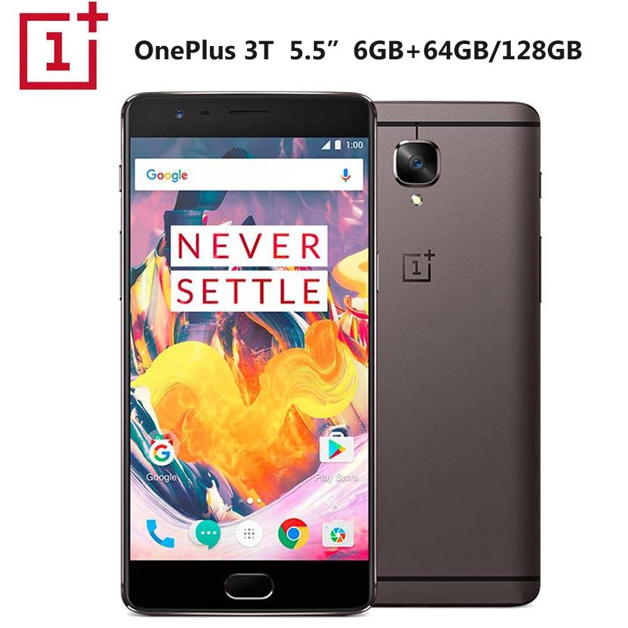 "Original Oneplus 3T A3003 teléfono móvil Dual SIM 5,5 ""6GB RAM 128GB ROM Snapdragon821 Quad Core Dash Charge NFC 3400mAh Callphone"