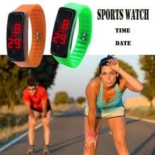 Aimecor LED Digital Display Bracelet Watch Childrens Students Silica Gel Sports Watch Drop.2.22