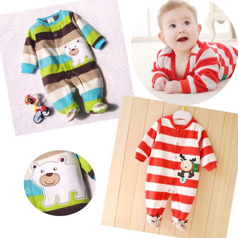2015 Новый Ребенка Ползунки Флиса Ткани Мальчик Девочка Одежда Новорожденных