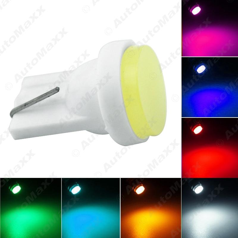 2 uds coche T10 194 COB W5W 6-LED cuña puerta lado Interior bombilla lámpara coche LED luz DC12V 7-Color # J-2904