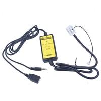 Автомобильный CD-адаптер для VW, MP3 аудио интерфейс AUX USB SD 12P Connect CD Changer для Audi A3 A4 для VW Beetle Golf для Skoda Superb