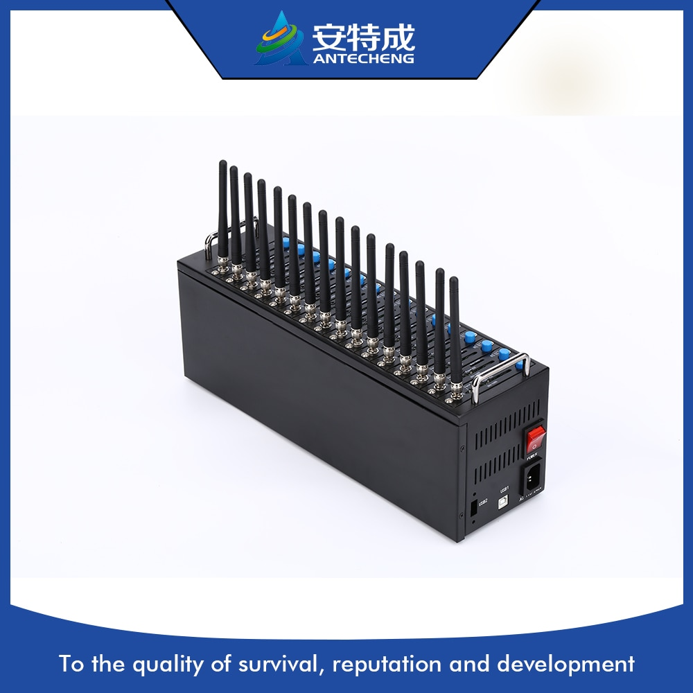 20% enregistrer USB 16 ports carte sim 3g usb modem pool multi cartes sim en vrac SMS SIM5320e 3g 16 ports modem pool
