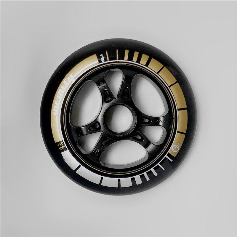 110 мм 100 мм черное вещество Бесконечность 85A встроенные скоростные коньки колеса для Powerslide PS гоночные катания колеса для MPC для CITYRUN