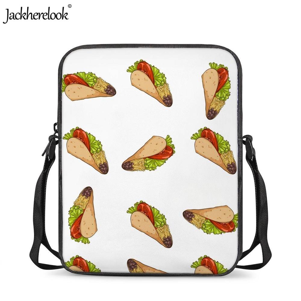 Jackherelook Mexica comida Taco impreso bebé niños niñas Mini mochilas escolares guardería estudiantes Crossbody bolsas niños Bookbags