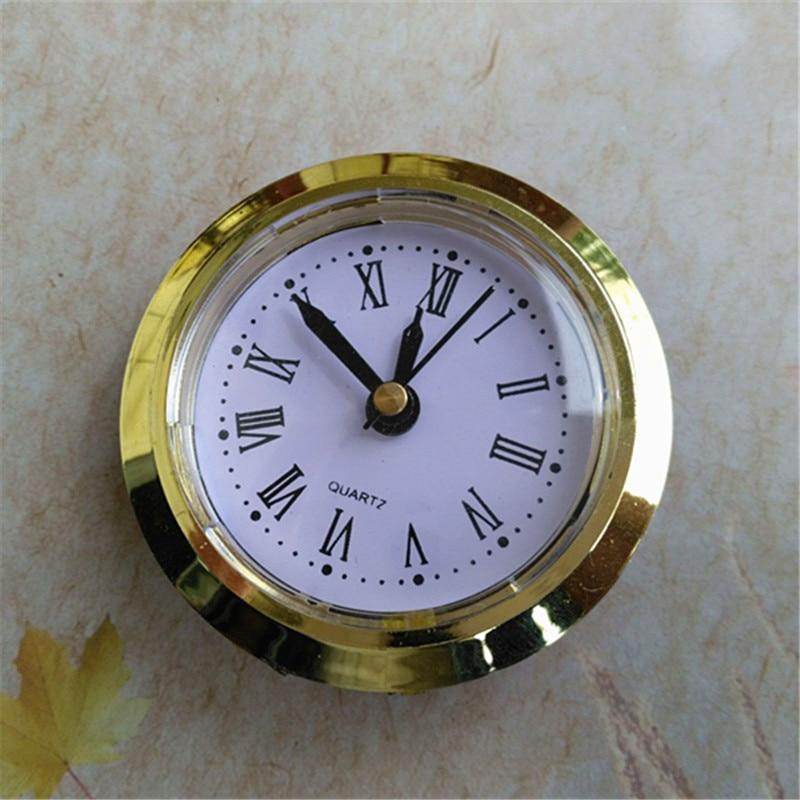 5 uds. Reloj incorporado de 50MM reloj de cuarzo con ajuste/ajuste de Ajuste dorado DIY cabeza de reloj