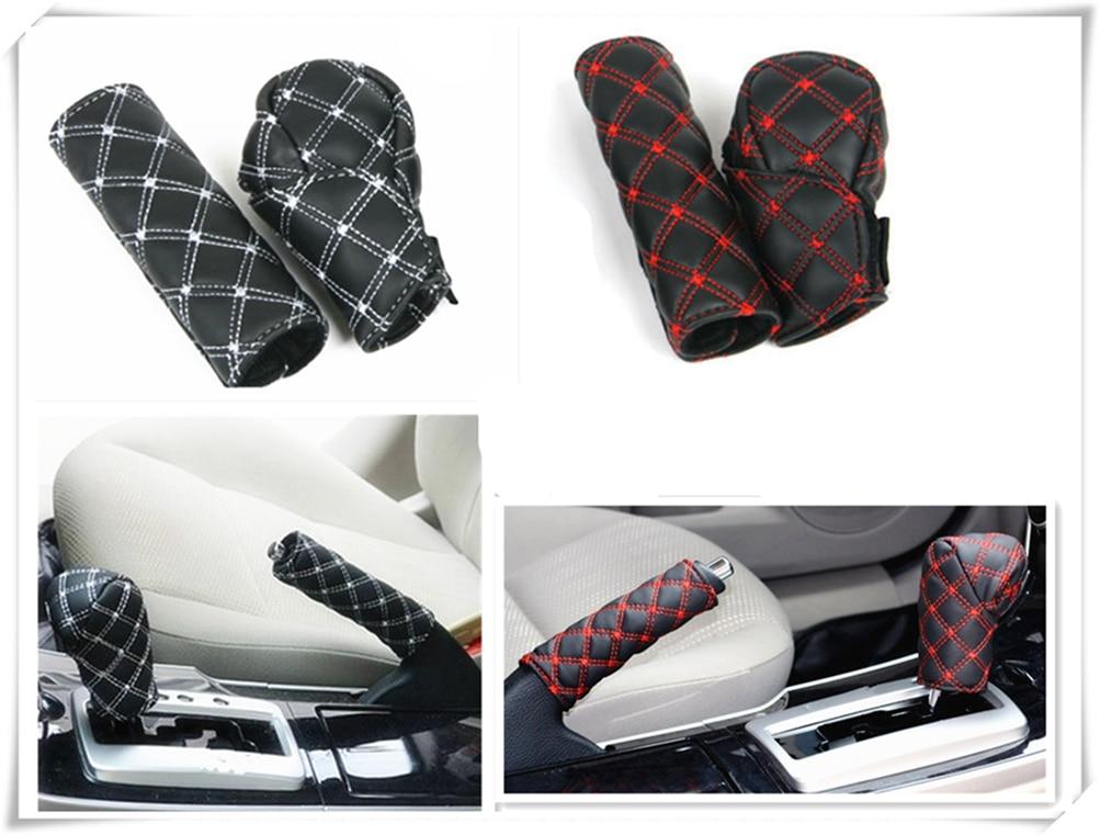 Cubierta de palanca de cambios para freno de mano interior de coche, caja de cambios 2 unids/set para Ford Transit Ranger Mustang Ka Focus, F-150 de fusión