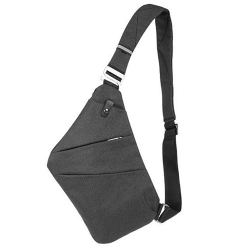 New Osoce Men Nylon Crossbody Shoulder Chest Thin Sling Casual Bag Satchel