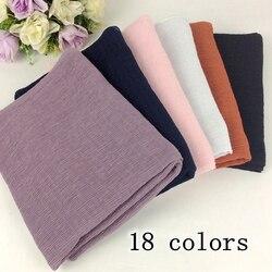 Crinkle viscose liso muçulmano hijab enrugamento longo xales e cachecóis 10 pçs/lote