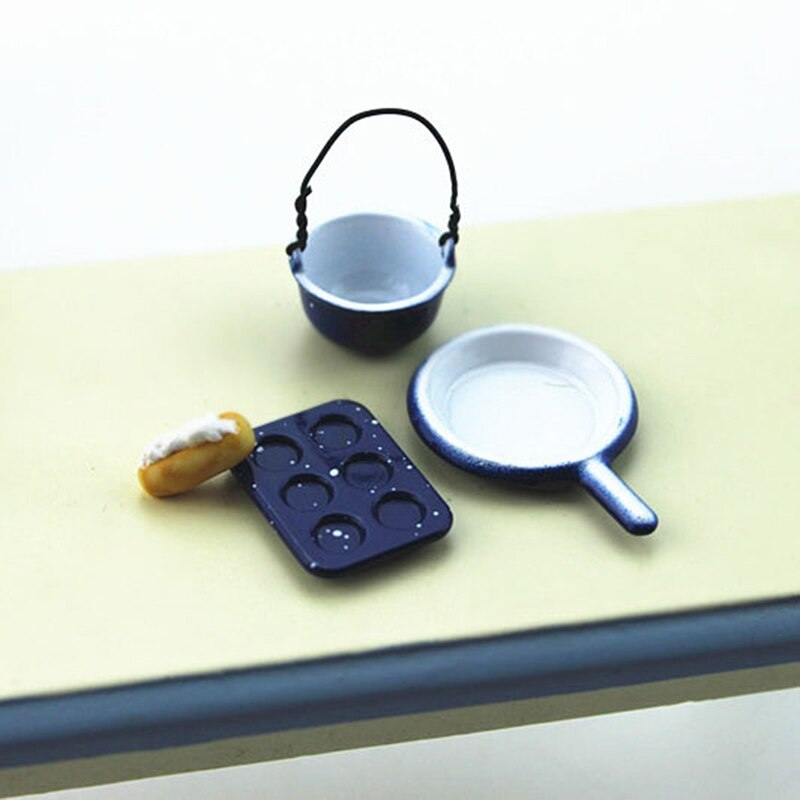 1/12 casa de muñecas Mini Placa de pastelería simulación de cocina olla modelo juguetes para decoración de casa de muñecas accesorios en miniatura